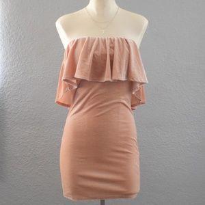 Dusty Rose Velvet Dress